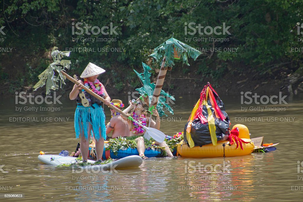 Anything That Floats Race Fun and Creativity stock photo