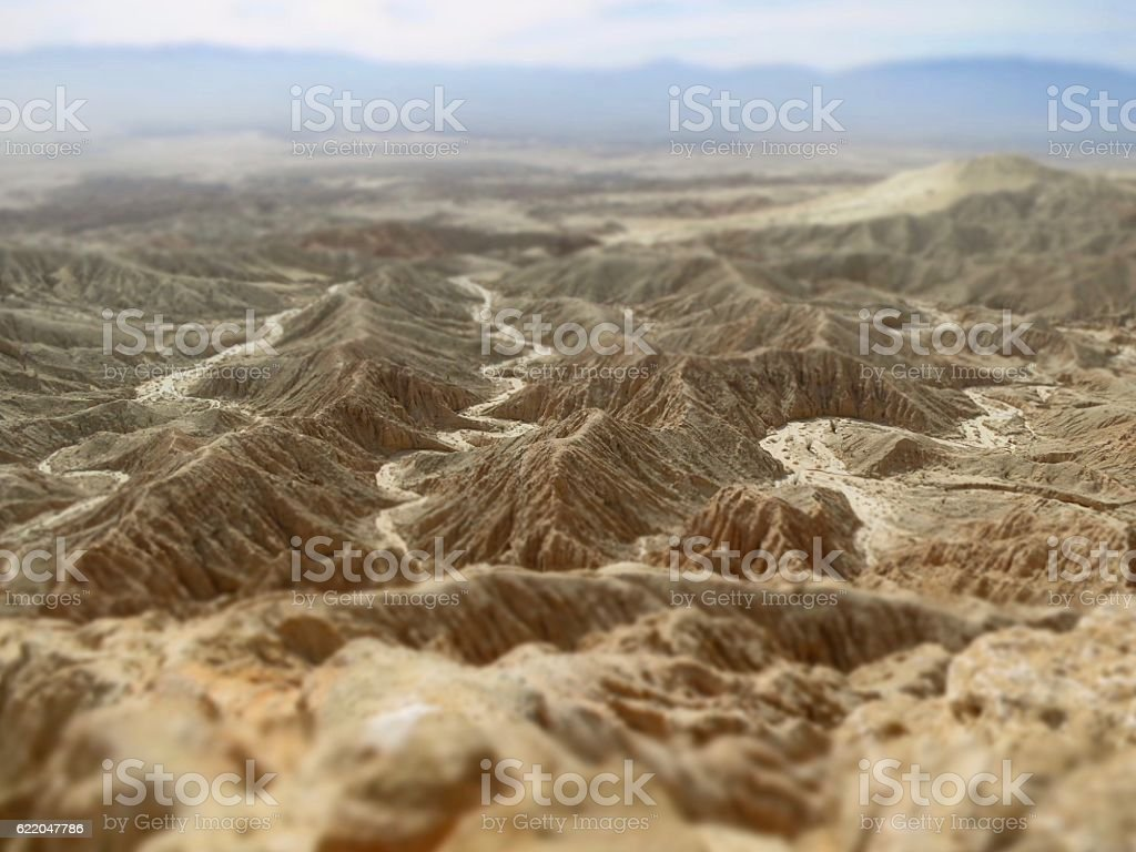 Anza Borrego Desert Badlands from a view point stock photo