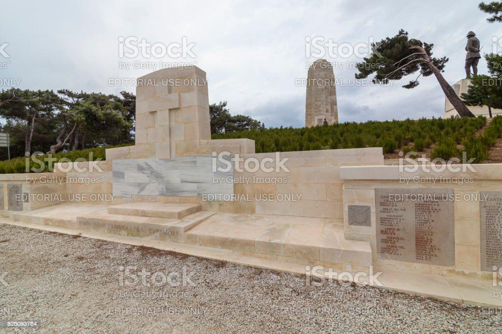 Anzac Cemetery at the Anzac Cove stock photo