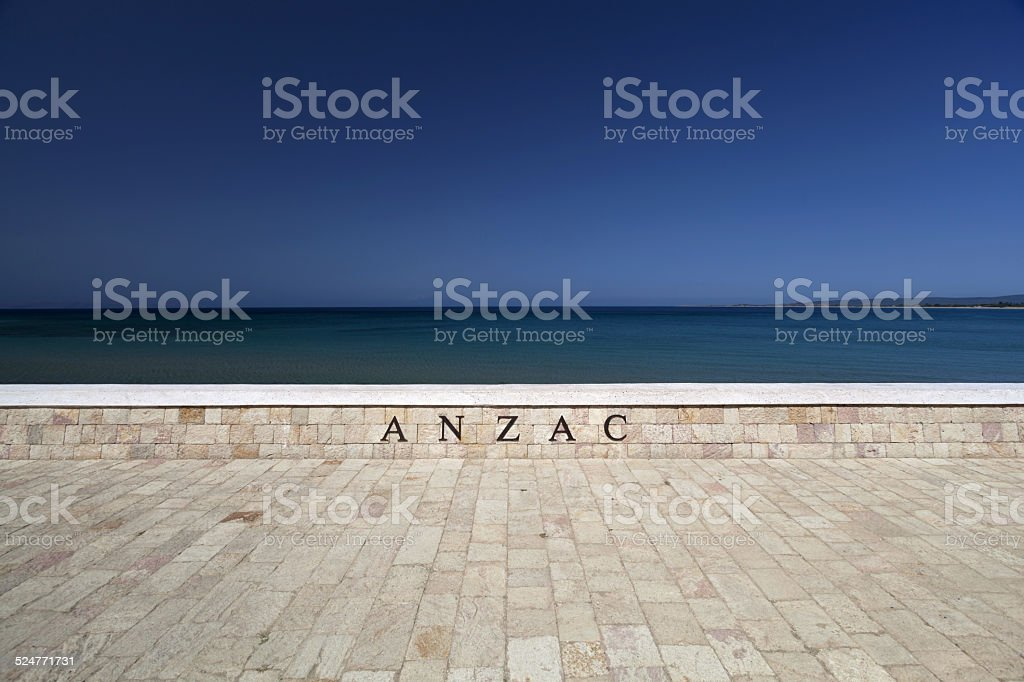 Anzac Cove Memorial in Canakkale Turkey stock photo