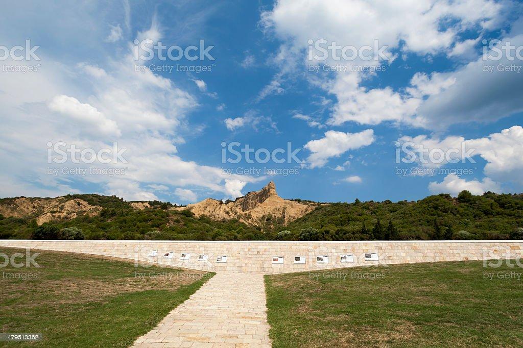 Anzac Cove Memorial in Gallipoli Canakkale Turkey stock photo