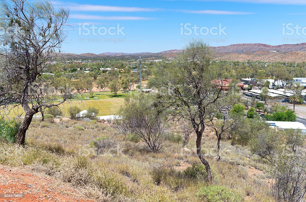 Anzac Hill Lookout stock photo