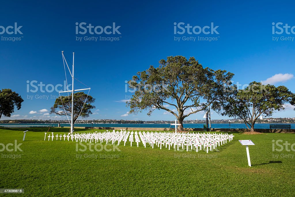 Anzac Memorials stock photo