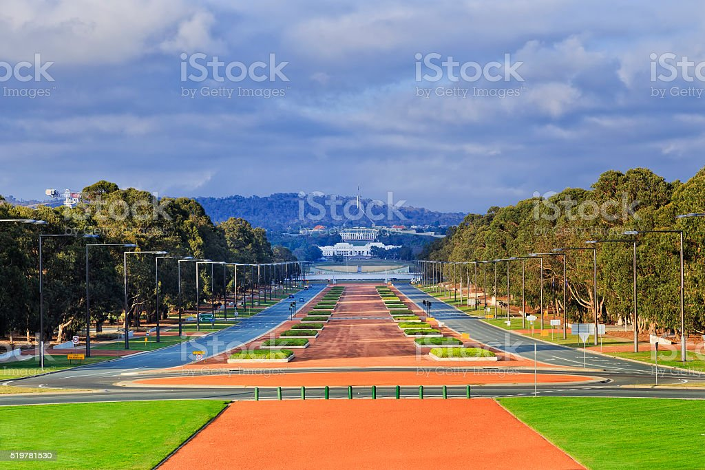 CAN Anzac Parade day stock photo