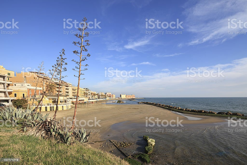 Anzio and beach, Lazio Italy stock photo