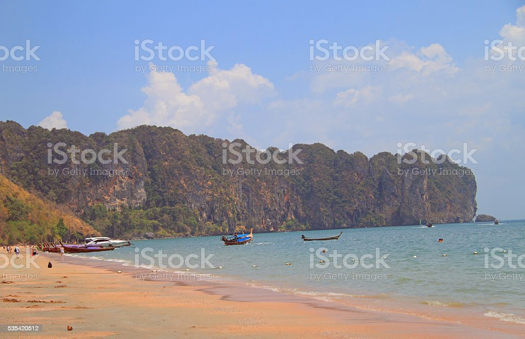 Ao Nang beach in Krabi province, Thailand stock photo