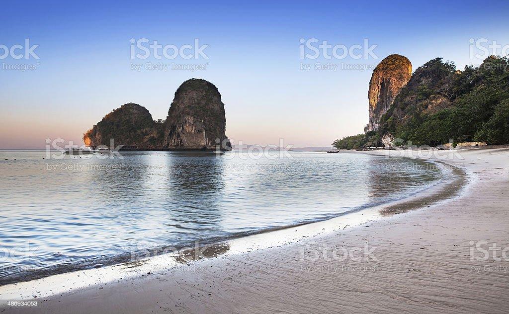 Ao nang beach, Railay, Krabi province, best beach in Thailand. stock photo