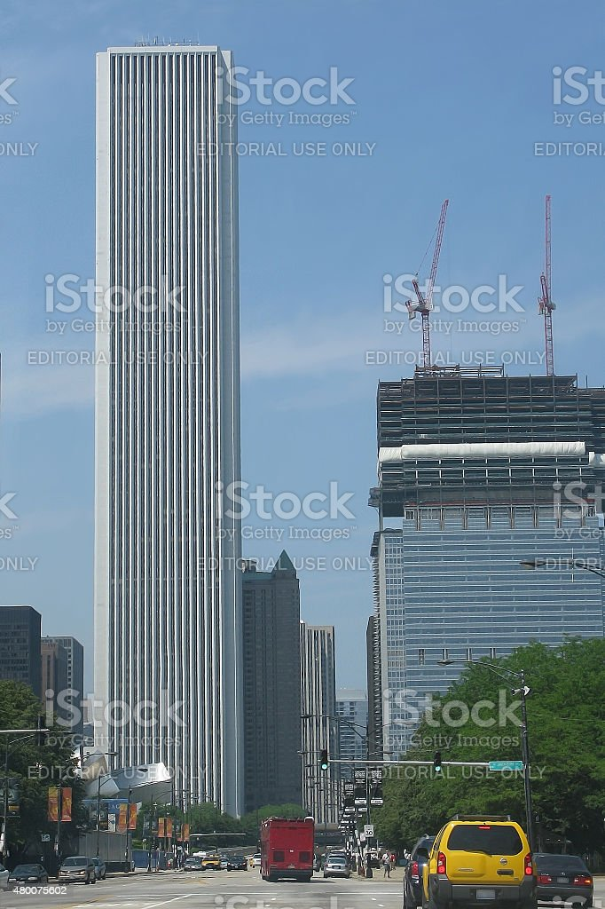 Aon building Chicago stock photo