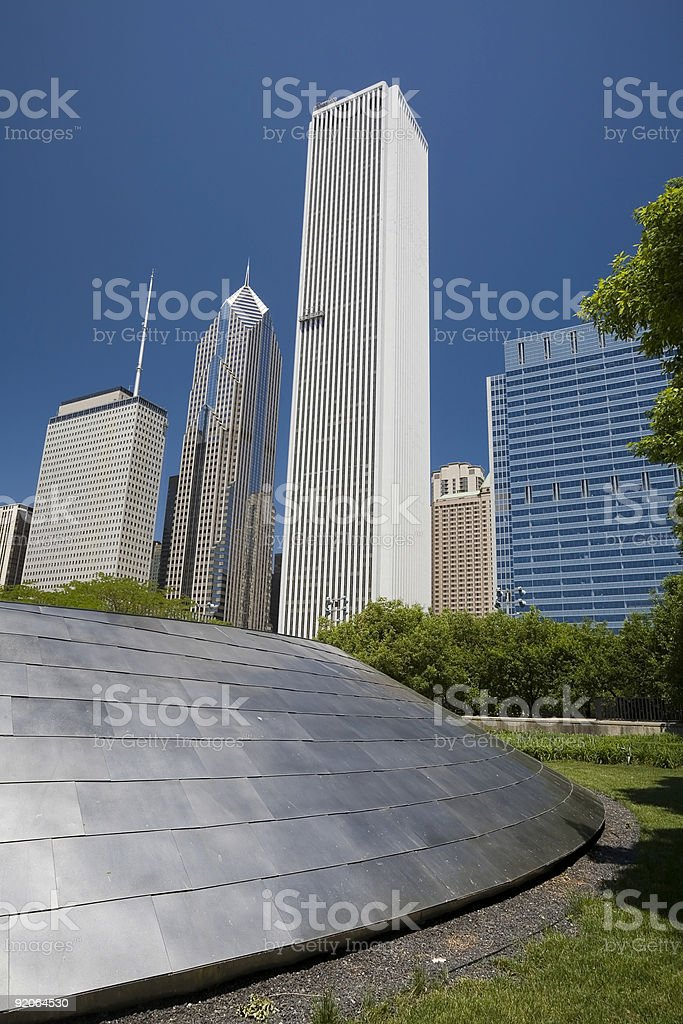 Aon Building, Chicago Skyscrapers. stock photo