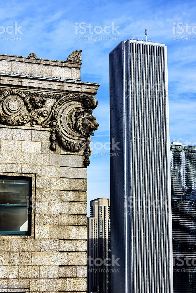 Aon Center and Peoples Gas Company Building, Chicago stock photo