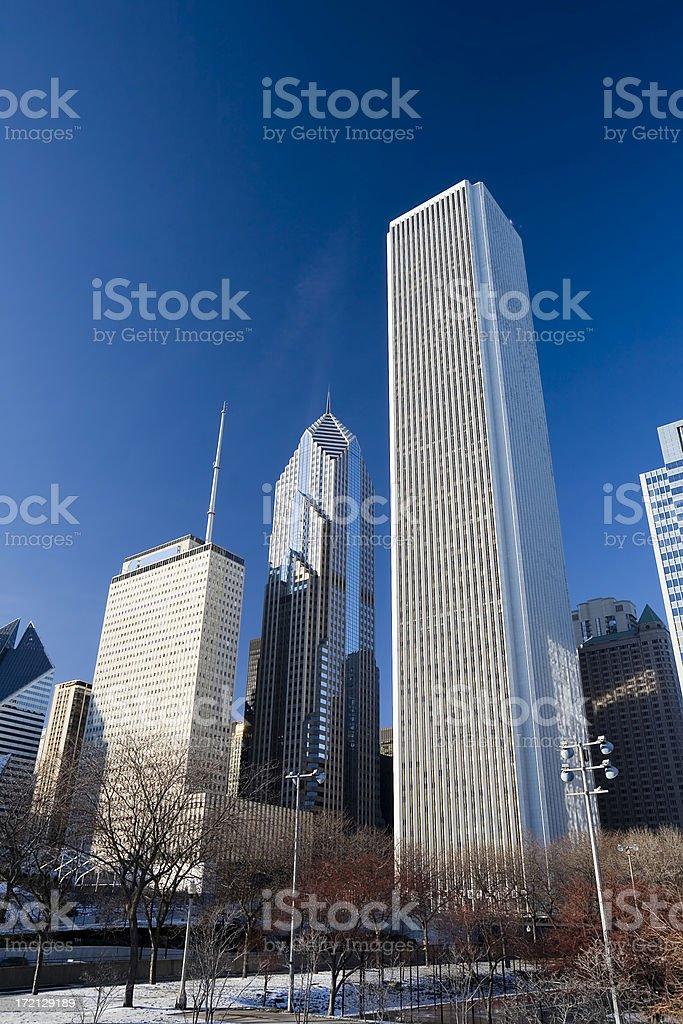 Aon Center, Downtown Chicago stock photo