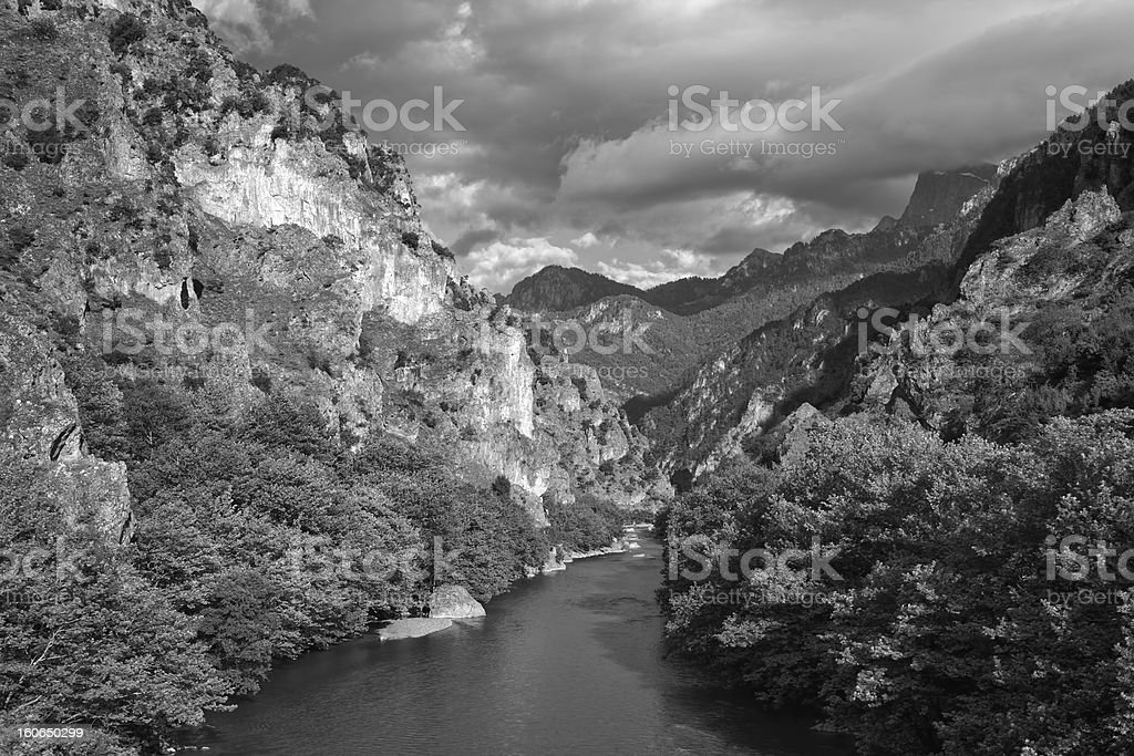 Aoos River royalty-free stock photo