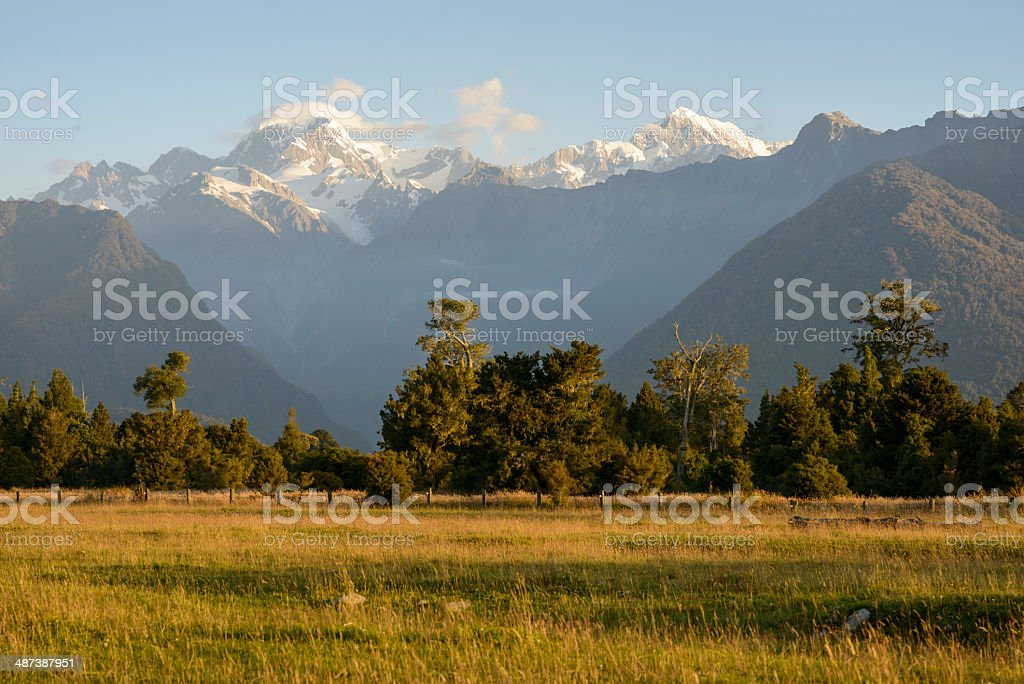 Aoraki, Mount Cook, New Zealand stock photo