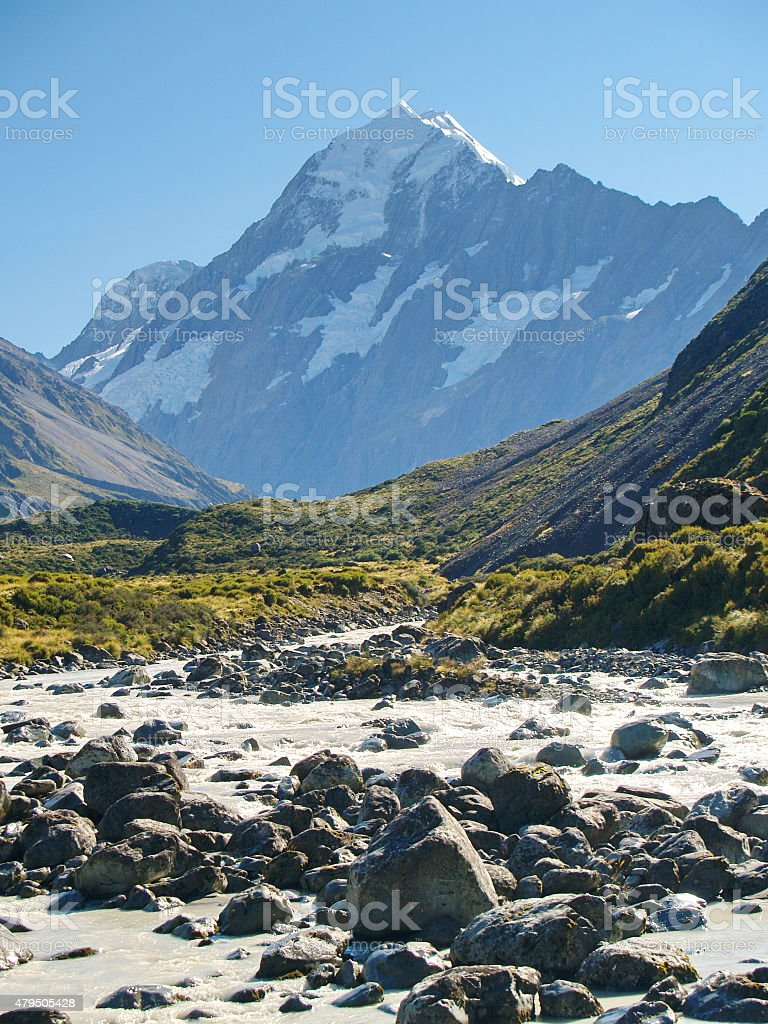 Aoraki (Mount Cook) stock photo