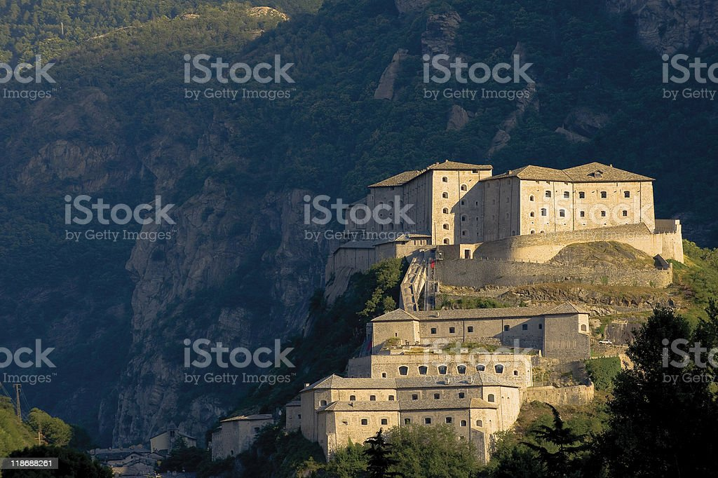valle d'Aosta Bard il Forte stock photo