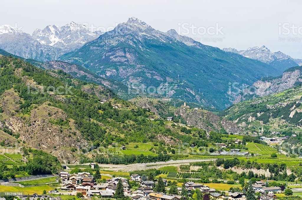 Aosta Valley. Italy royalty-free stock photo