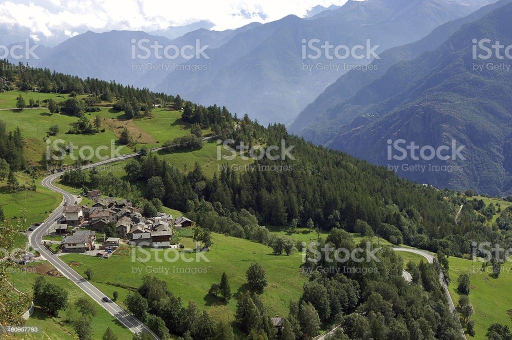 Aosta Valley royalty-free stock photo