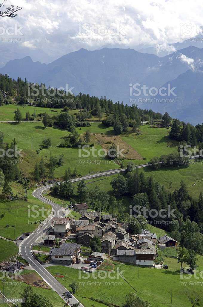 Aosta Valley royalty-free stock photo