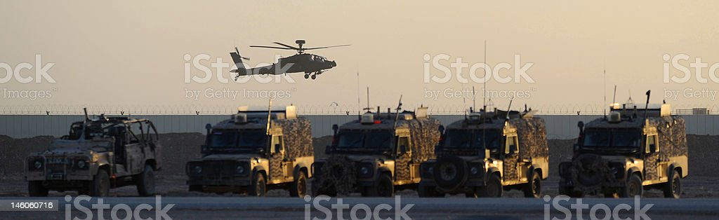 apache and 4x4's stock photo