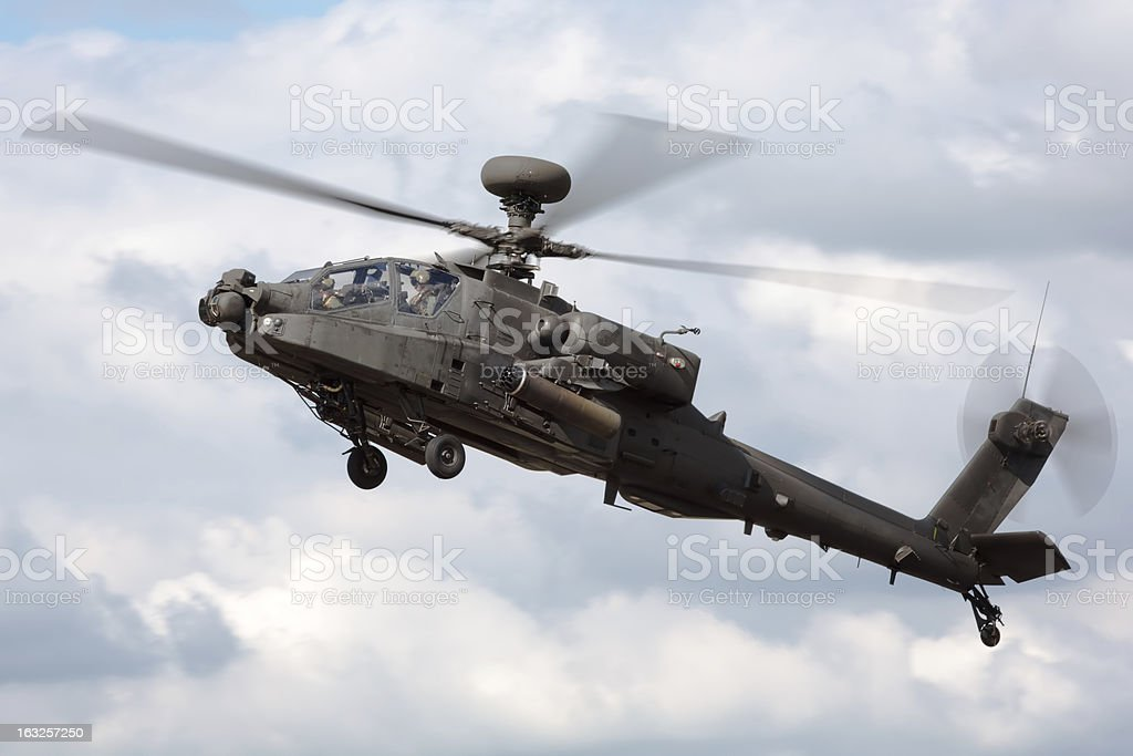 AH-64 Apache Attack Helicopter stock photo