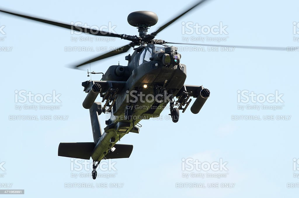 Apache attack helicopter royalty-free stock photo