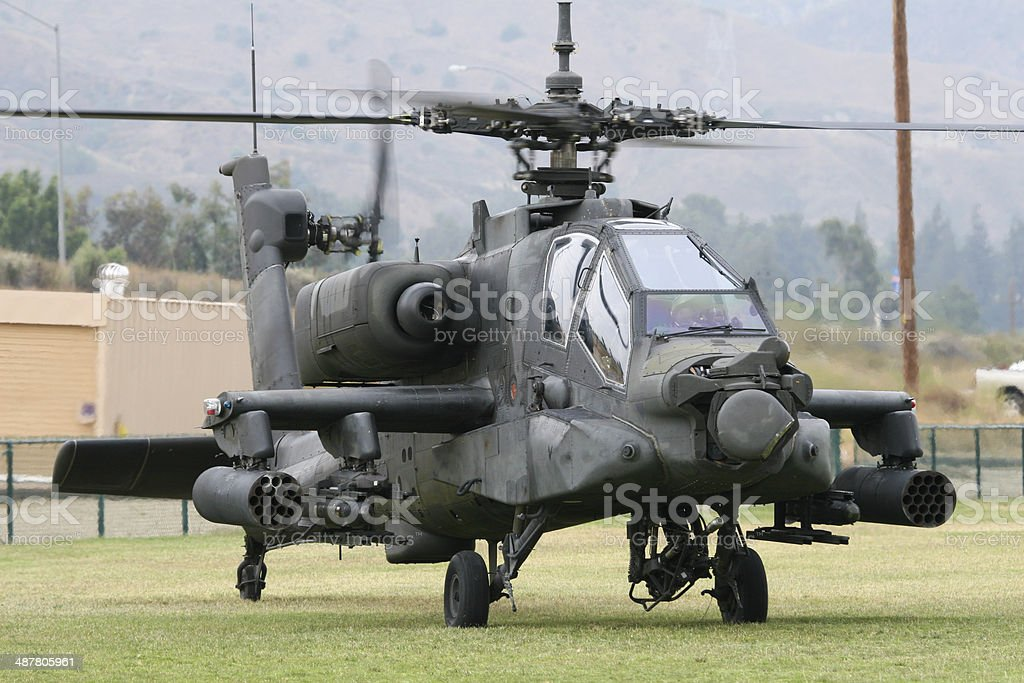 AH-64 Apache Helicopter stock photo