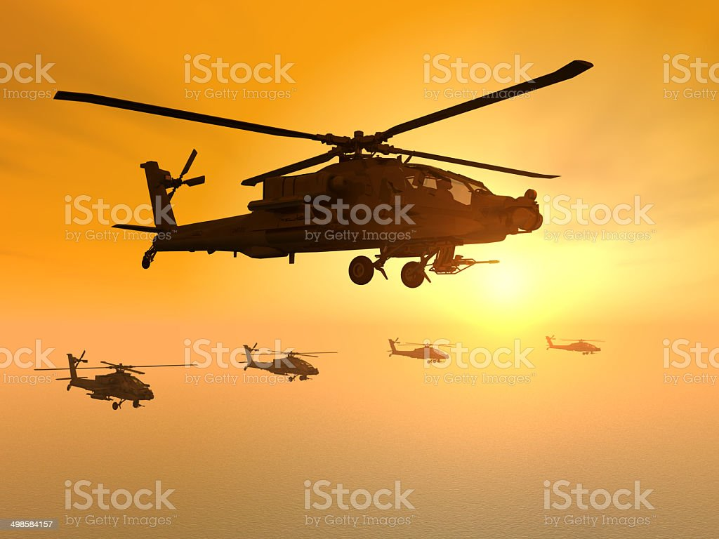 Apache Helicopters stock photo
