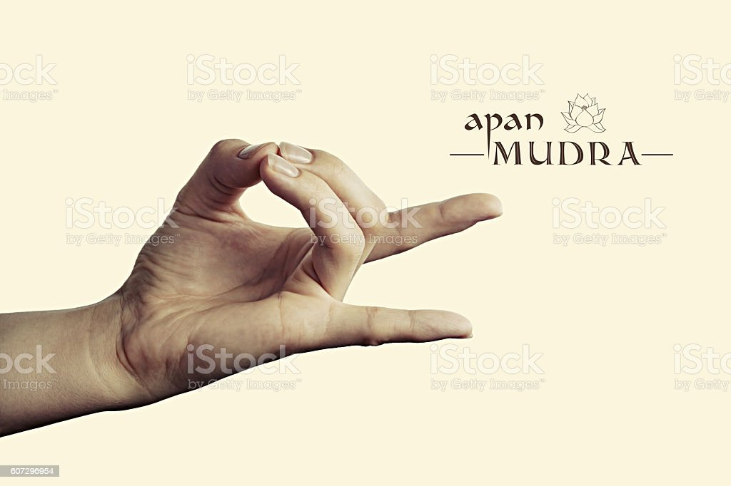 Apan mudra color stock photo