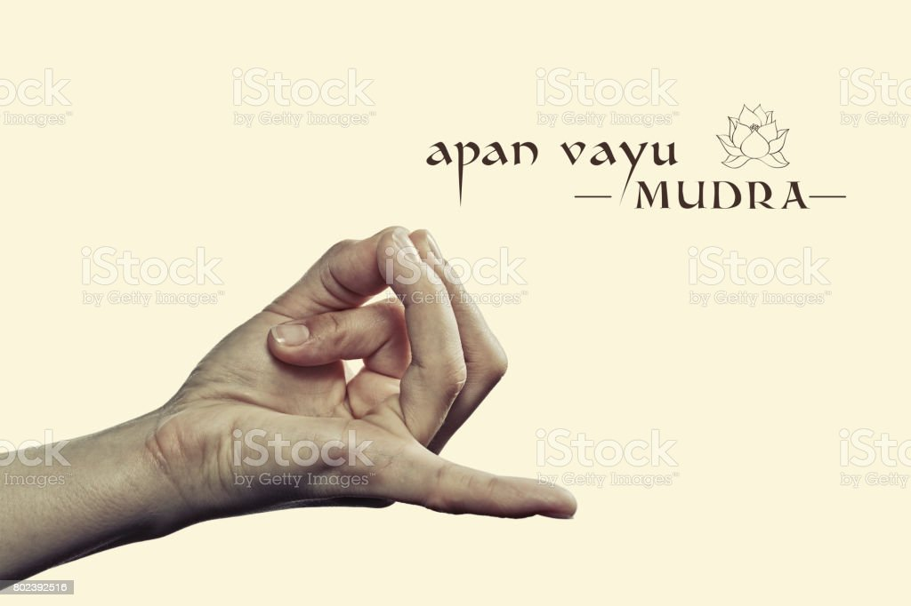 Apan vayu mudra. stock photo