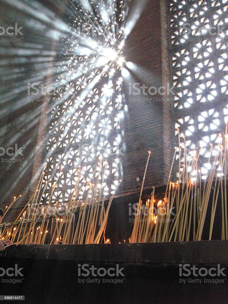 Aparecida do Norte candle stock photo