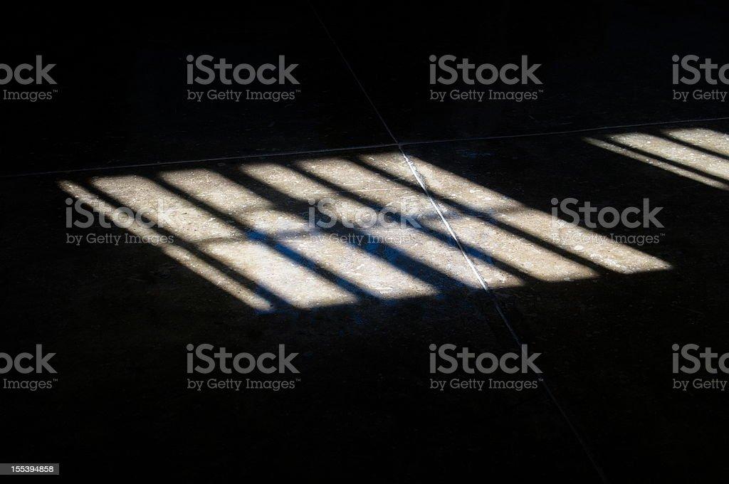 Apartheid put the sun behind bars on Robben Island stock photo
