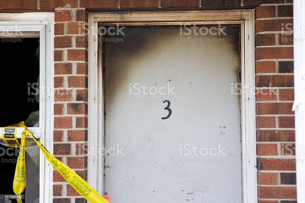 Apartment 3 Fire royalty-free stock photo