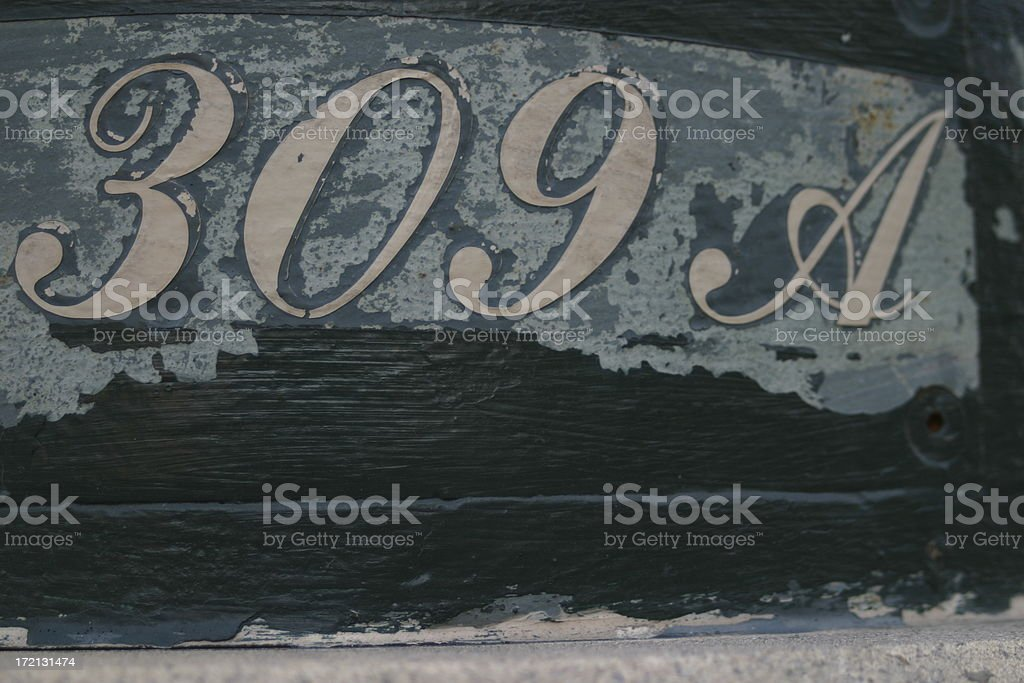 apartment 309A stock photo