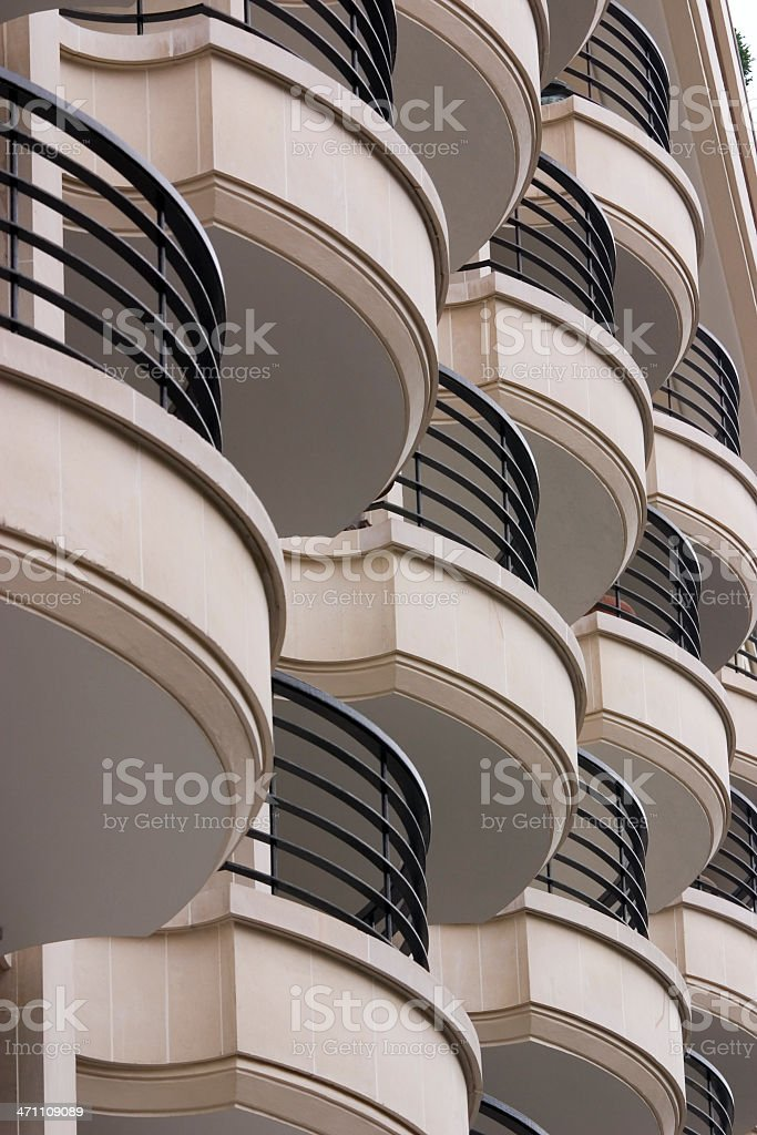 Apartment Balconies Paris royalty-free stock photo