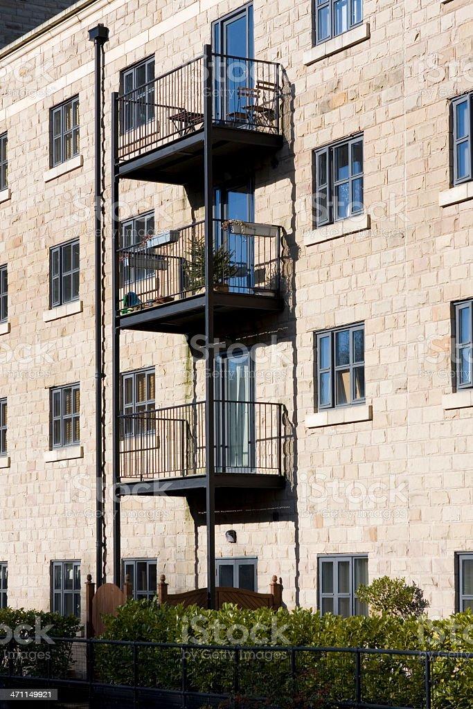 Apartment block balconies royalty-free stock photo