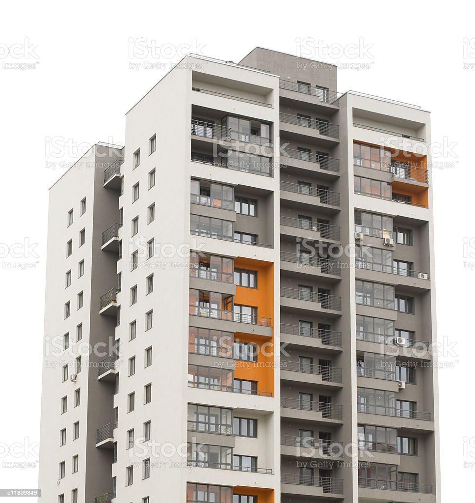Apartment block building stock photo