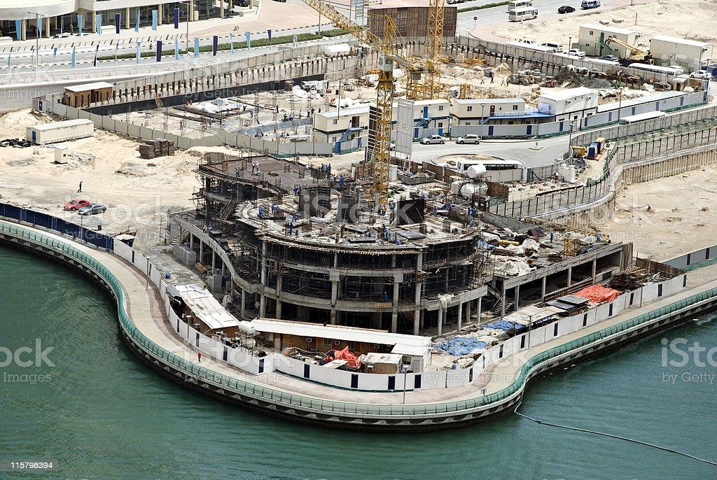 Apartment block construction, Dubai Marina, UAE royalty-free stock photo