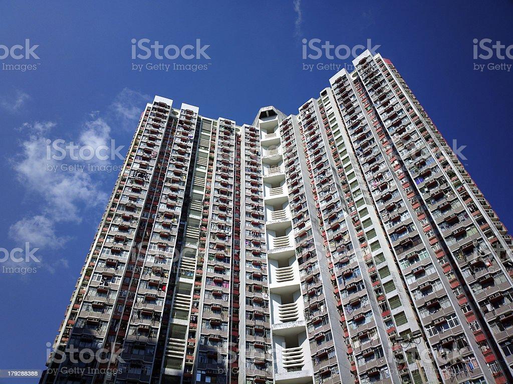 Apartment block in Hong Kong royalty-free stock photo