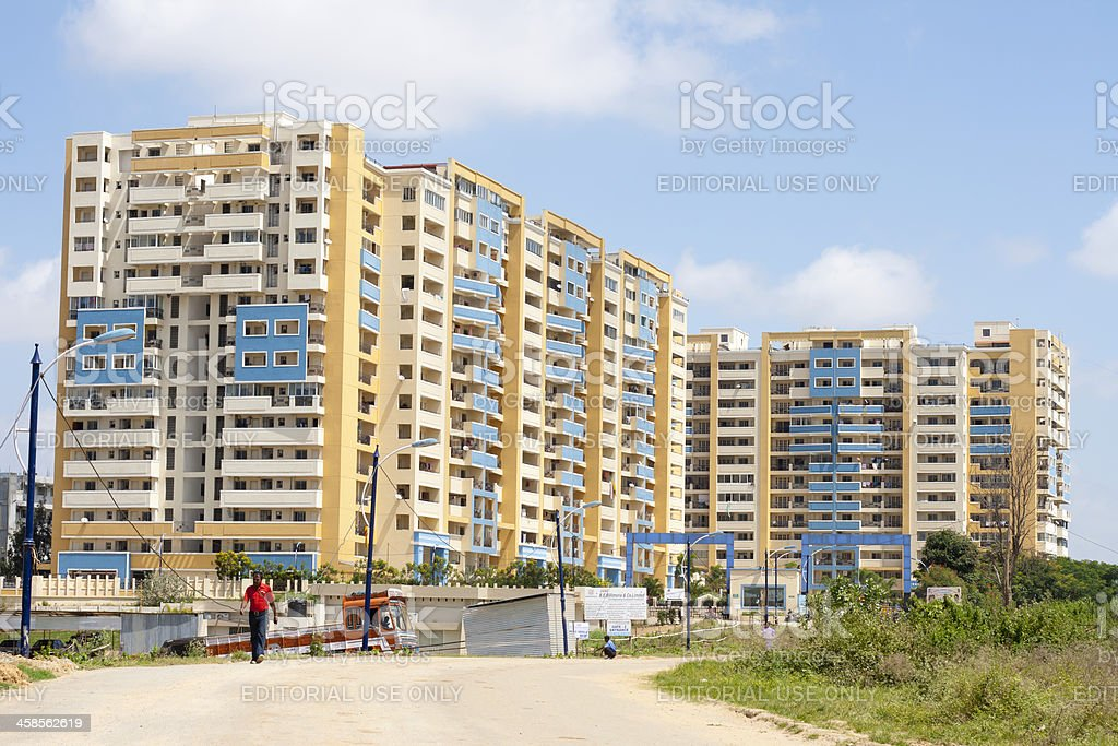 Apartment block, India royalty-free stock photo