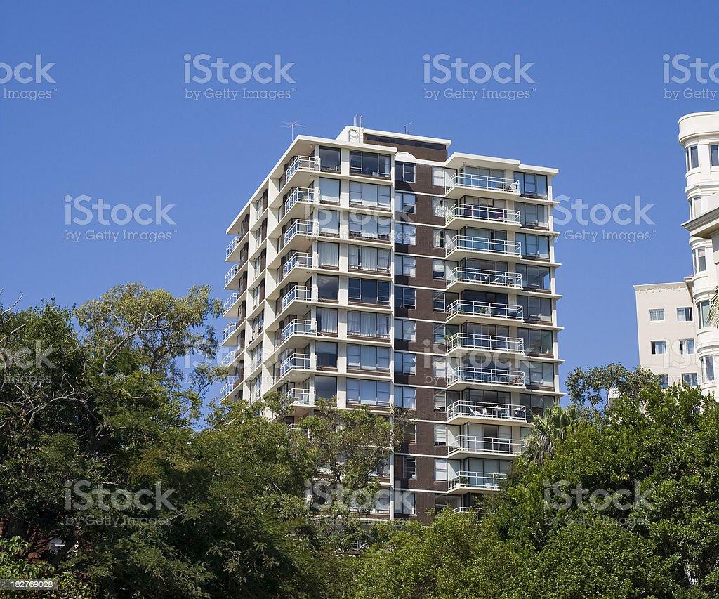 Apartment block stock photo