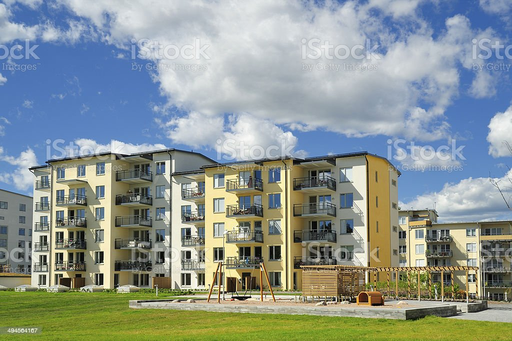 Apartment Block stock photo