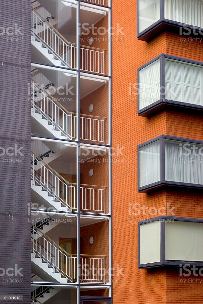 Apartment block stairwell royalty-free stock photo