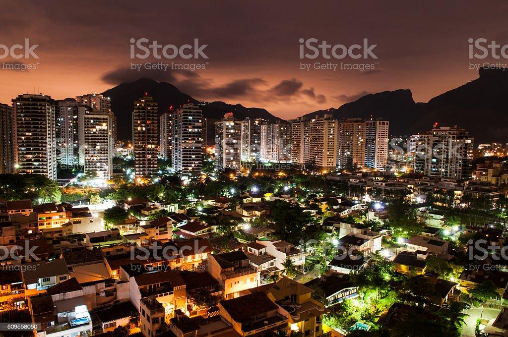 Apartment blocks in Barra Da Tijuca, Rio stock photo