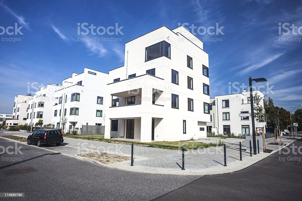 Apartment Blocks royalty-free stock photo