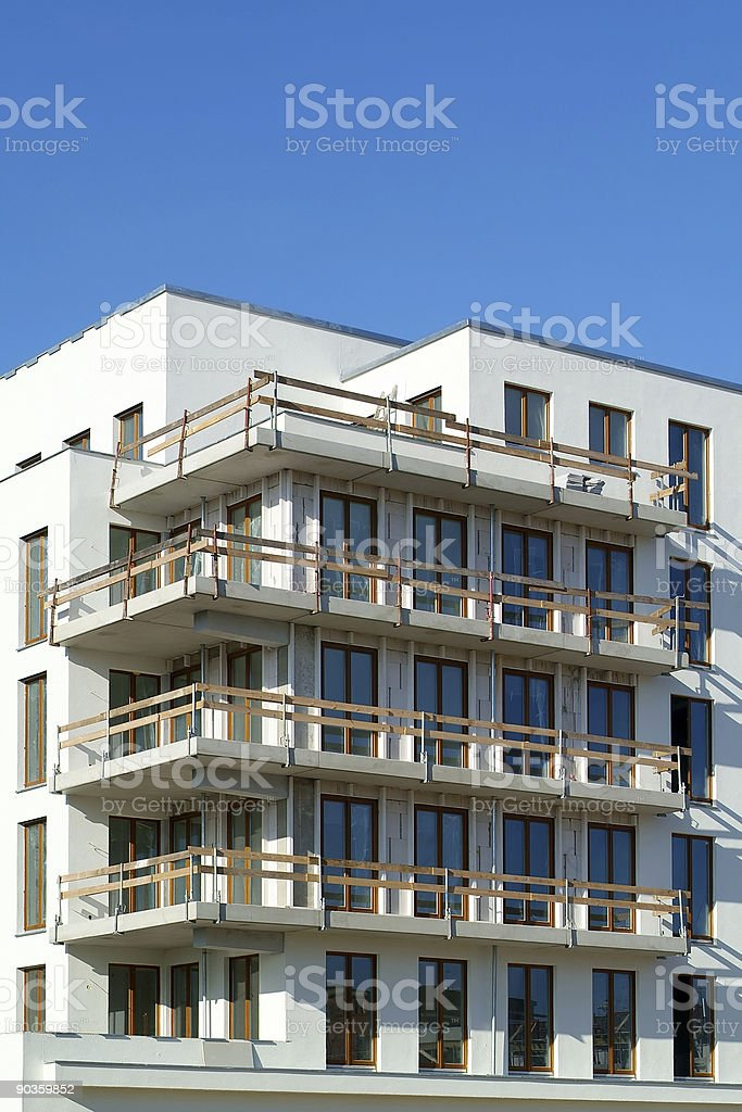 apartment building, almost finished stock photo