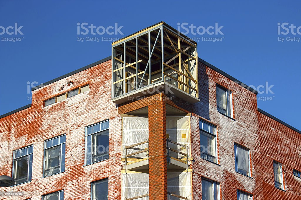 Apartment building construction royalty-free stock photo
