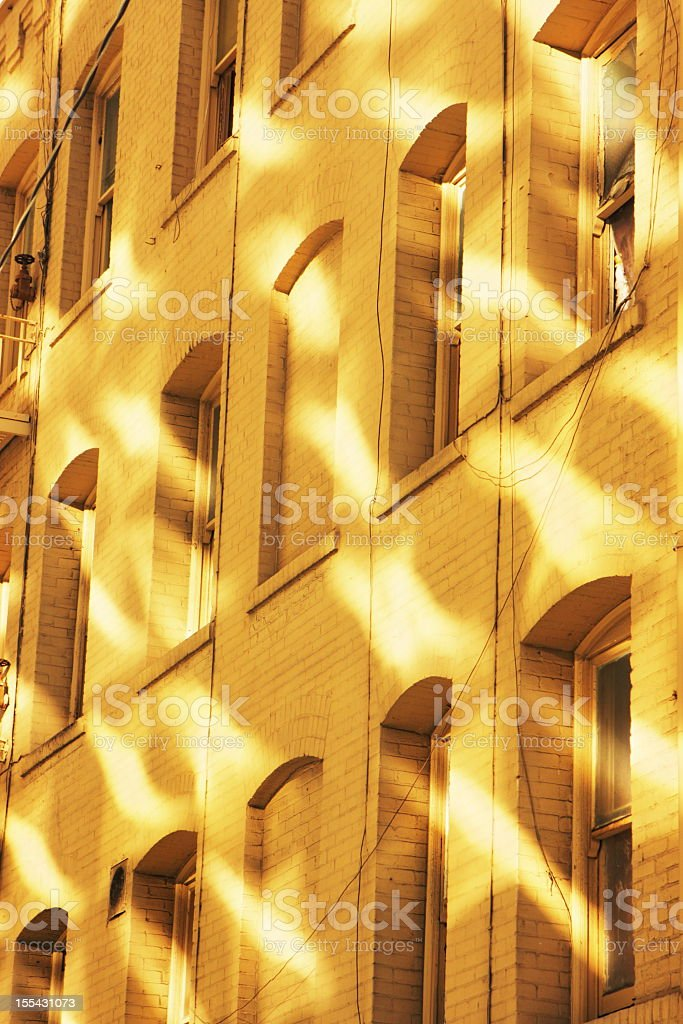 Apartment Building Facade Light Pattern royalty-free stock photo