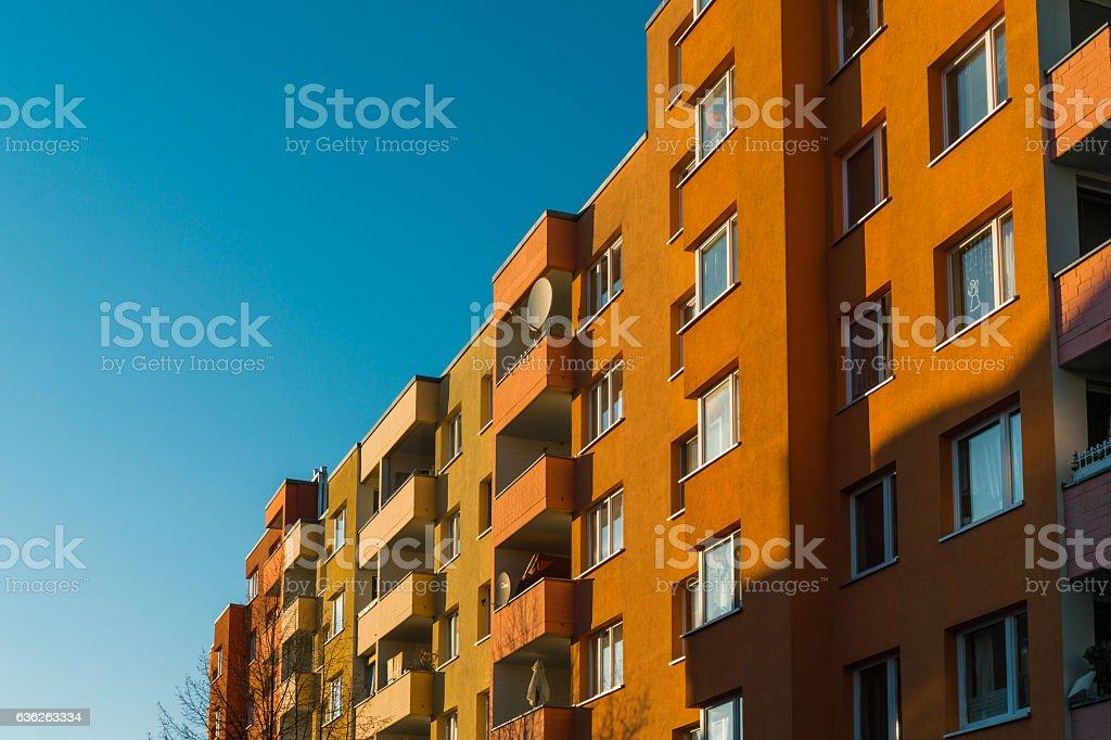 Apartment building in Boston, Massachusetts. stock photo