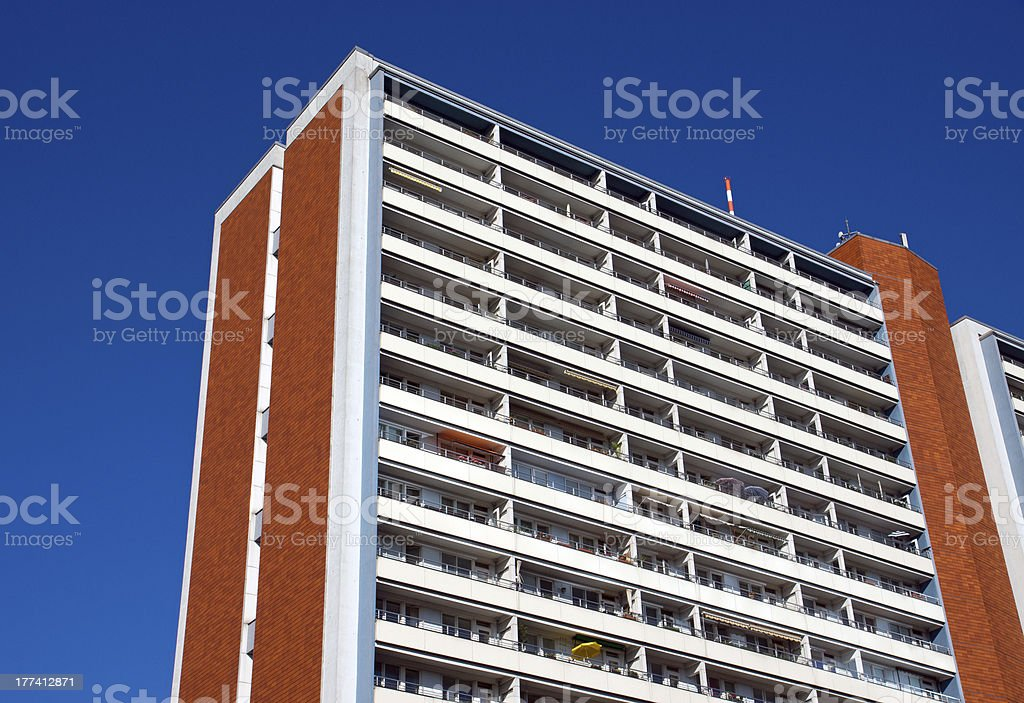 Apartment building in East Berlin royalty-free stock photo