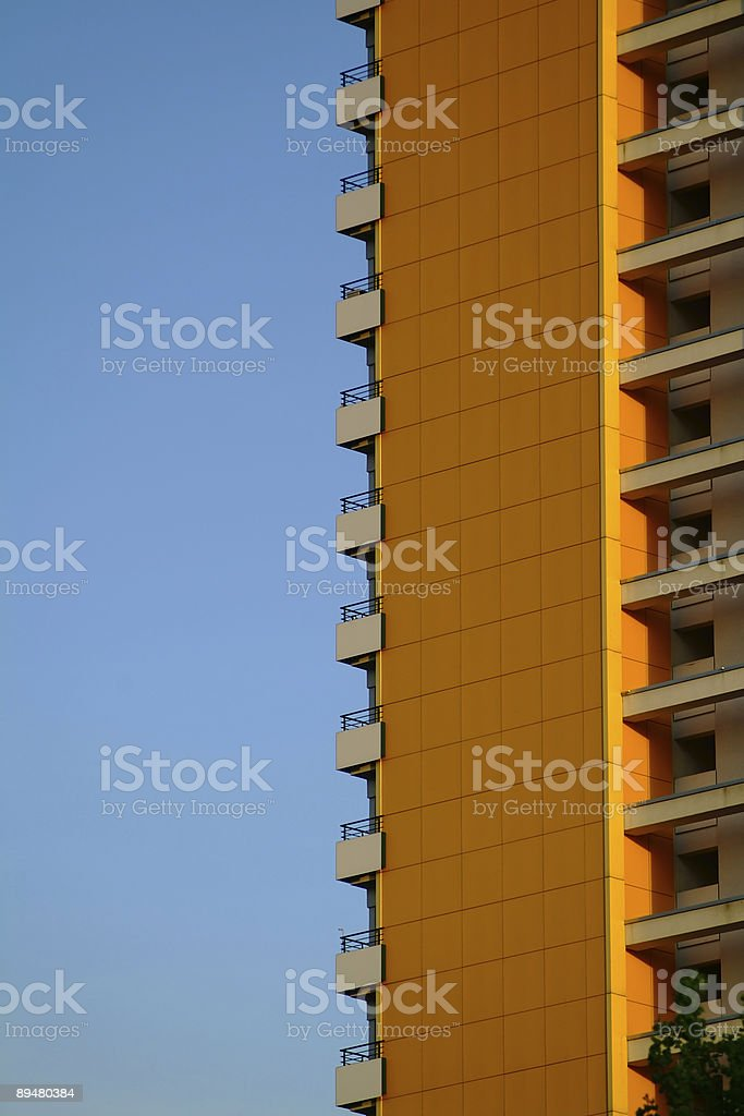 apartment building in east berlin stock photo